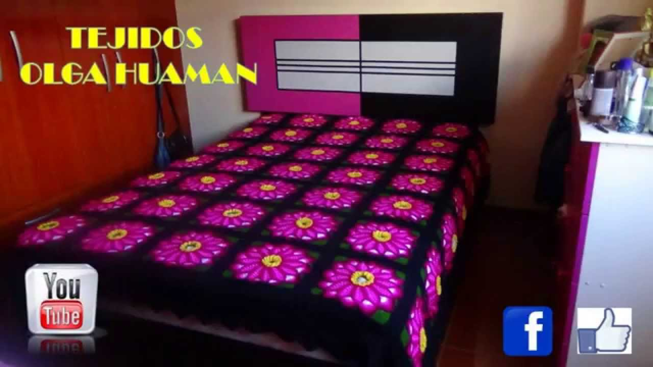 Colchas Tejidos a Crochet para Camas - YouTube