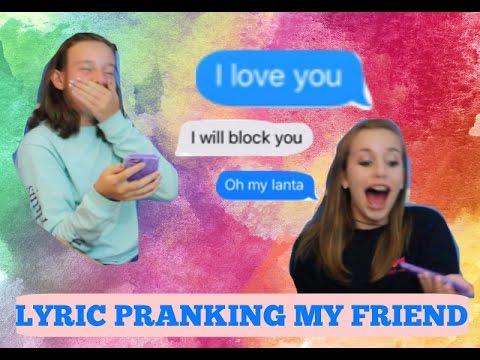 PRANKING MY FRIEND WITH JACK AND JACK SONG LYRICS!