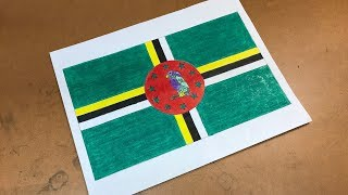 Dominican Flag Drawing 🇩🇲