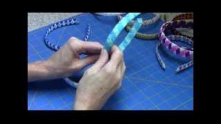 Repeat youtube video Woven Ribbon Headband Tutorial
