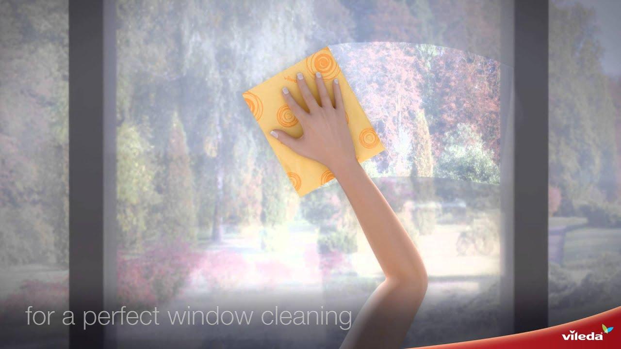 Vileda Professional Glass Cloth.New Vileda Microfibre Window Cloth Youtube