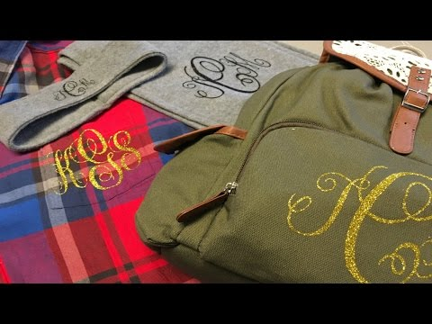3 Monogrammed Gifts Using Cricut Explore And Design Space