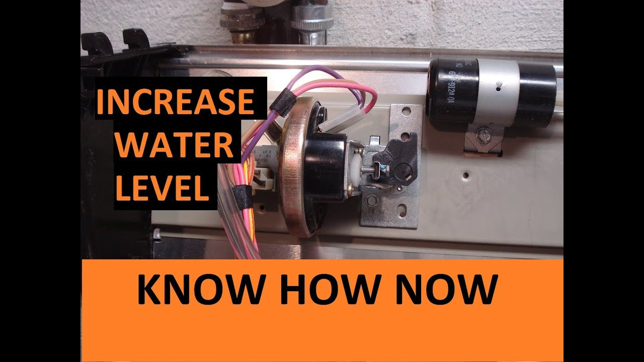 how to adjust washing machine water level pressure switch [ 1280 x 720 Pixel ]