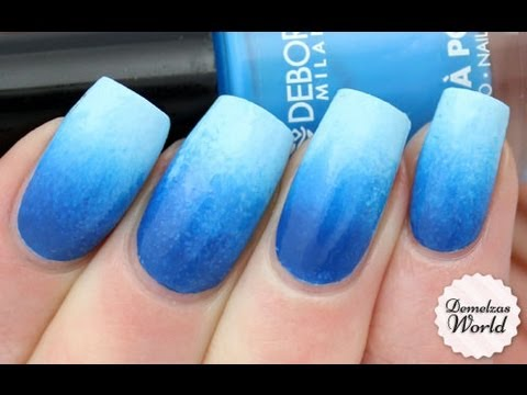 Blue Gradient Nail Art Tutorial For Deborah Milano Beauty Club