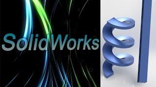 SolidWorks. Развёртка спирали (Шнека). Листовой металл. (Урок 2)(, 2016-02-19T16:14:21.000Z)
