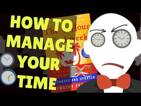 How to Manage Your Time | The 4 Hour Workweek Animated notes