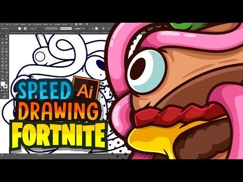 Fortnite Hamburguesa Speed Drawing Illustrator Cc Dibujo Temporada 6