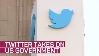 Twitter takes on US government
