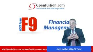 introduction to the acca paper f9 financial management exam