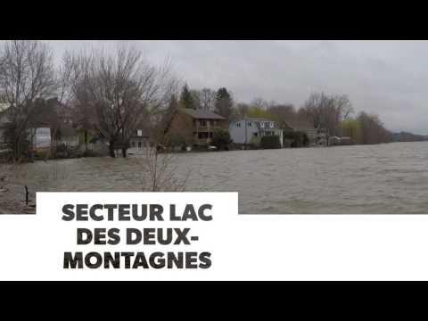 Inondation au Québec (secteur Lac des Deux-Montagnes)