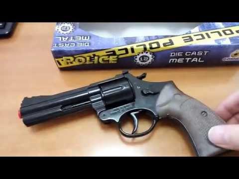 Игрушечный металлический револьвер на пистонах Магнум 127/ Gonher