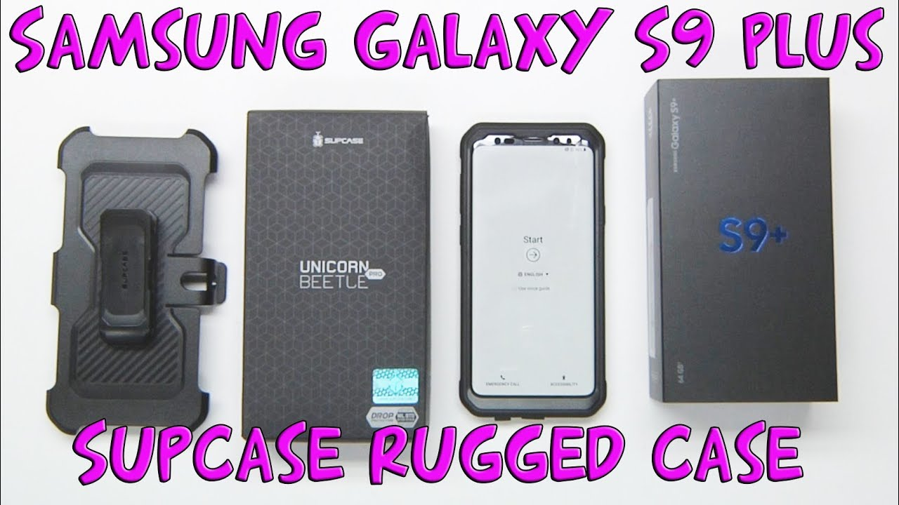 online store 76655 350ec Samsung Galaxy S9 Plus with Unicorn Beetle Pro SupCase Screen Protector  BEST CASE EVER!
