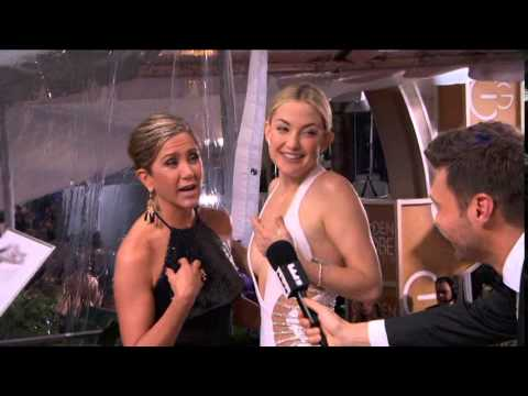 Kate Hudson & Jennifer Aniston - Golden Globe Awards 2015