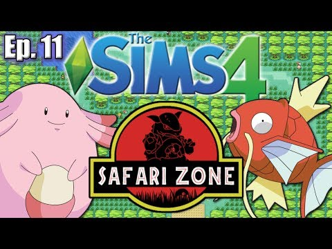THE SAFARI ZONE - The Sims 4: Pokemon Theme (Gen 1) - Ep. 11