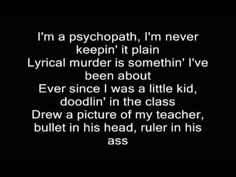 Eminem - Psychopath Killer Lyrics (Slaughterhouse)