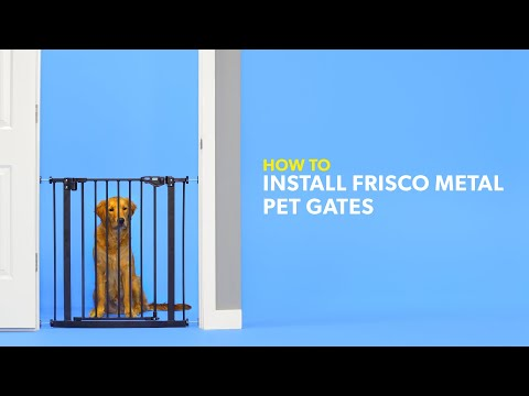 how-to-install-frisco-metal-pet-gates-|-chewy