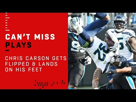 Chris Carson Gets FLIPPED & LANDS ON HIS FEET!!!
