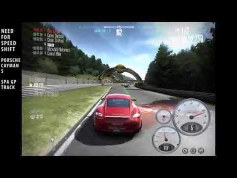 Porsche Cayman S / Need For Speed Shift / SPA track / PC game