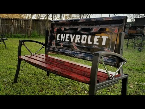 How to build/DIY tailgate bench