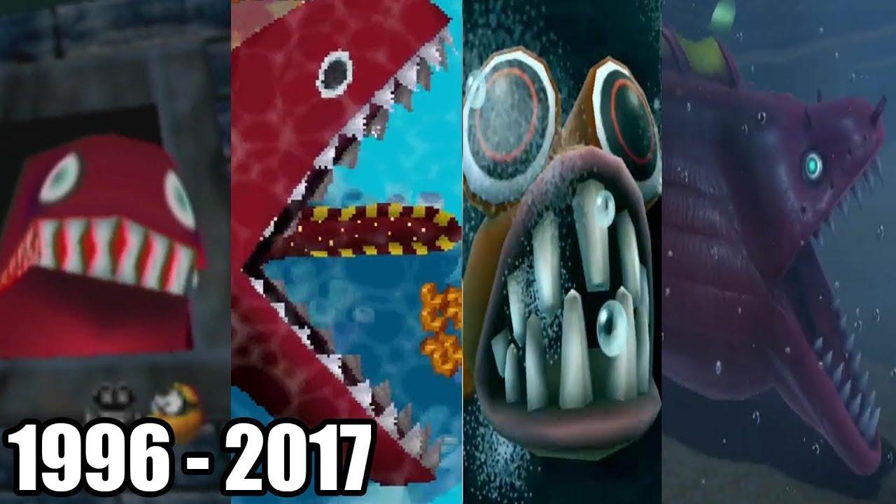 Evolution Of Eels In Mario Games 1996 2017 Youtube