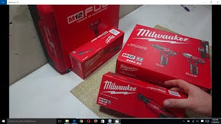 Unboxing Milwaukee M12 Cordless tools Impact wrench, cordless ratchets & drills 5 tools