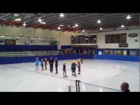 Short Track speed skate meet at Ridge Meadows Canada