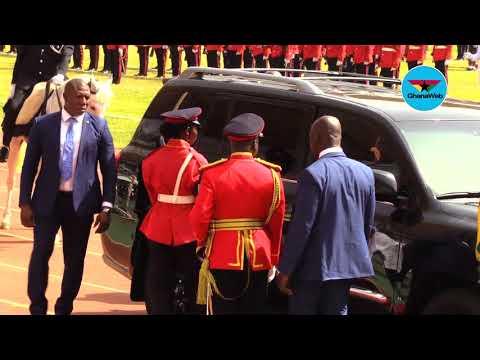Ghana@62: President Akufo-Addo's arrival at the Aliu Mahama Stadium