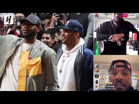 Carmelo Anthony Shares A Story When LeBron Saved His Life!