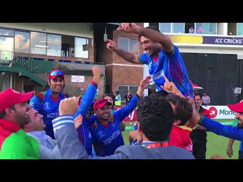 Afghanistan celebrates ICC Cricket World Cup Qualification