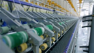 Shot of an automatic machine manufacturing thread