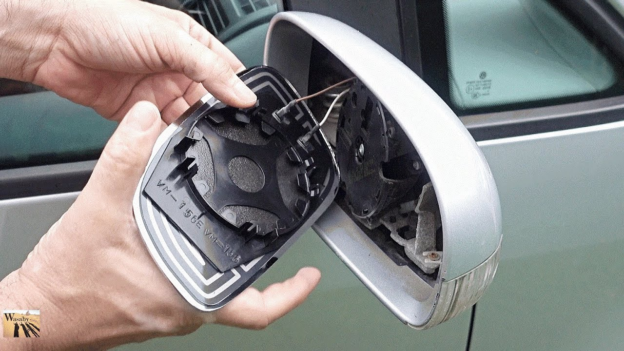 How To Replace And Refit Side Wing Mirror Glass For Vw