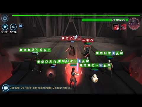 Heroic Sith Raid: C-3PO maiden voyage in Phase 1 P1 SWGOH