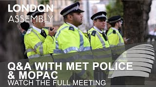 Q&A with Met Police & MOPAC