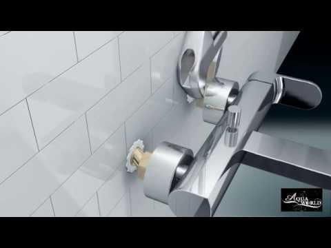 Смеситель для ванной, душа настенный