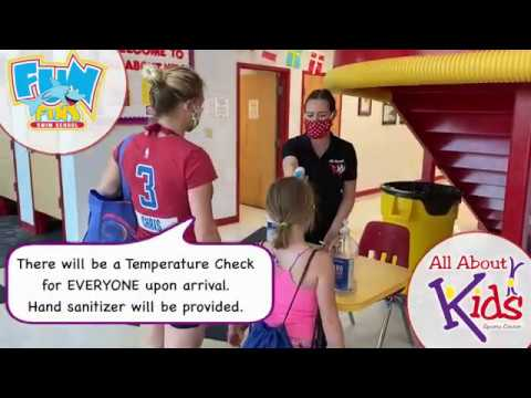 Swim procedures after Covid for All About Kids Louisville