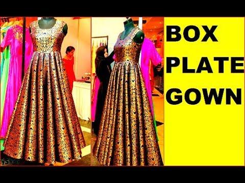 Box Plated Gown Dress ख बस रत लग ग आप