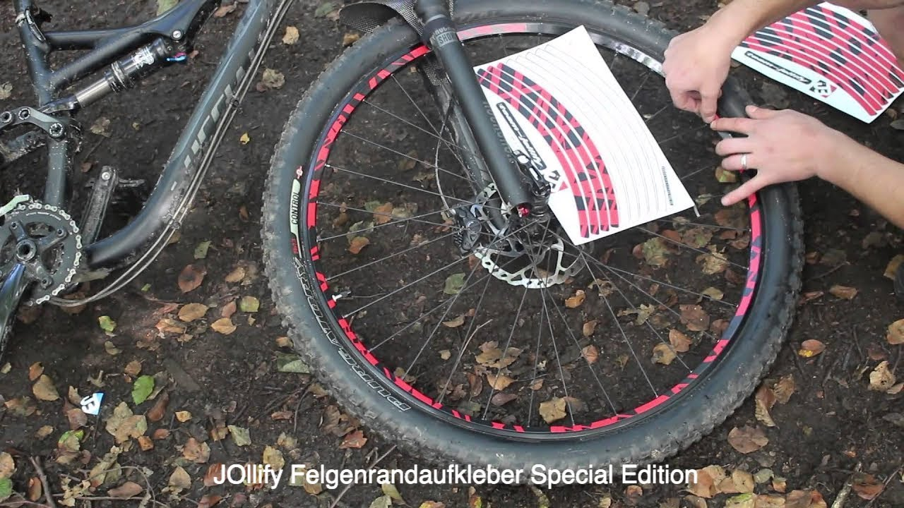 jollify felgenrandaufkleber 2015 edition passend zum mud guard montageanleitung bikeporn. Black Bedroom Furniture Sets. Home Design Ideas