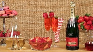 Strawberry Champagne Cocktail Recipe | Happiest Hour