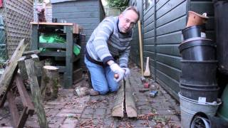 Log Splitting For Windsor Chair Parts