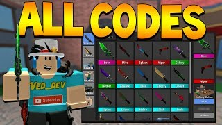 ALL *SEASON 1* CODES IN MURDER MYSTERY 2! (Roblox)