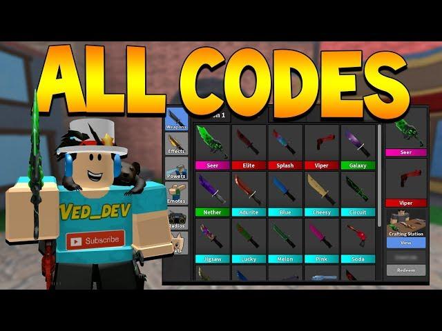 Roblox Murder Mystery 2 Codes 2019 Update Murder Mystery 2 Codes Roblox October 2020