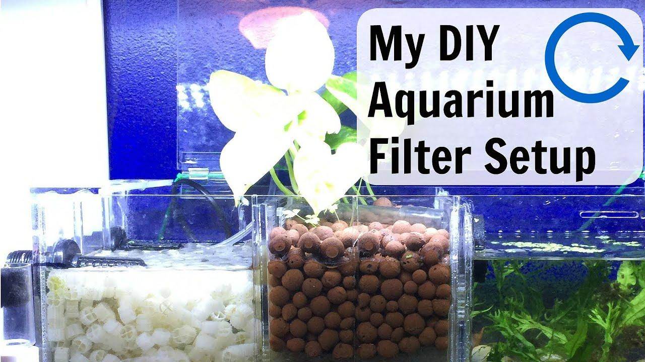 My Diy Aquarium Filter Setup Youtube