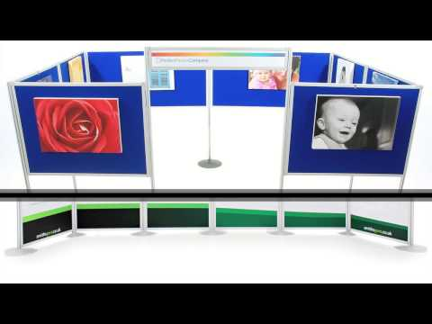 Universal Panel and Pole Portable Exhibition Display Stands