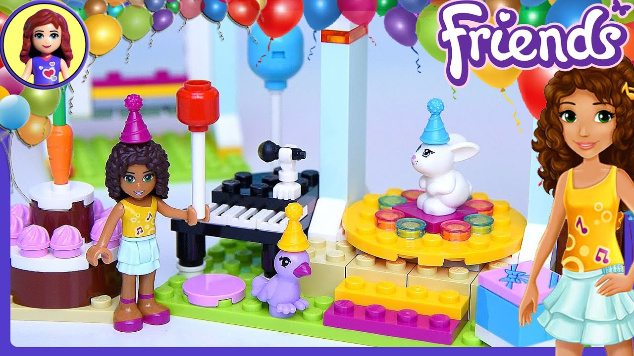Lego friends birthday party build review play kids toys youtube filmwisefo