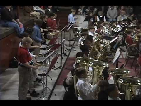 Mathew and the Moore MST Magnet School Band 2003