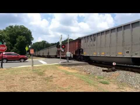 P43 Taking a coal train to Plant Allen in Belmont, NC