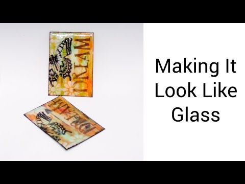 How to Make an Artist Trading Card with a Glass Effect - Dream