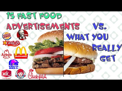 15 Fast Food Advertisements Vs. What You Actually Get ,  Real Photo Slide , Marketing Scam