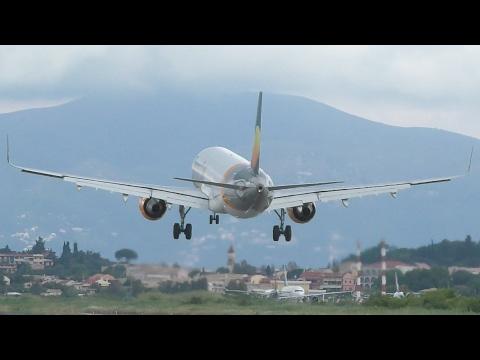 Thomas Cook Airlines Airbus A321 Landing at Corfu CFU
