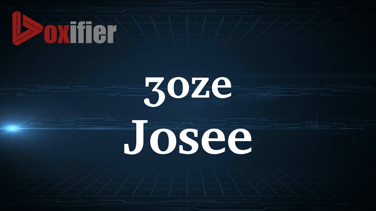 How to Pronunce Josee in French - Voxifier.com - YouTube